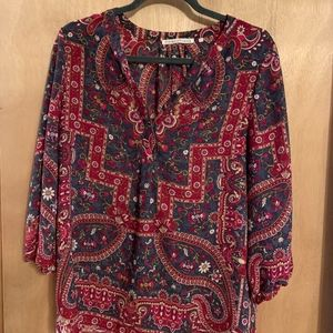 Multi-colored peasant blouse by Violet & Claire, M